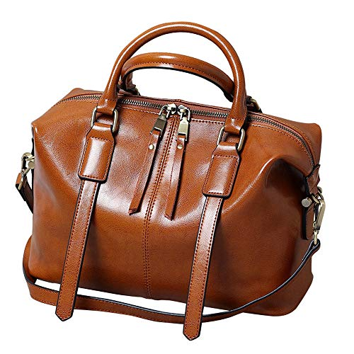 Bag Bag 2018 Meaeo Boston Handbag Messenger Wax Shoulder Leather Oil xzzCqSnwa