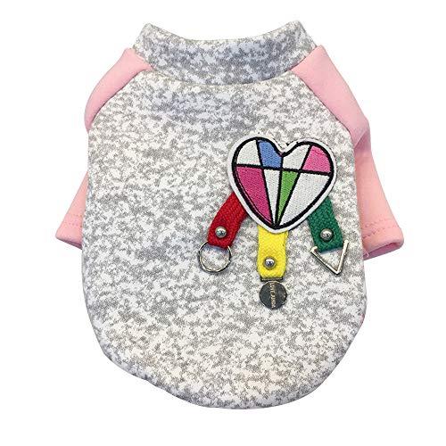 (Lookvv Fashion Dog Spring Autumn Clothes,Autumn Winter Warm Coat Jacket Puppy Apparel Pink)