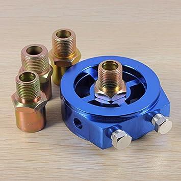 Chronos Presión de placa intermedia filtro indicador de aceite sensor transmisor de temperatura: Amazon.es: Coche y moto