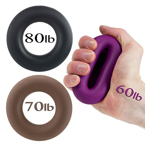 Hand Grip by Iron Crush® - A Hand & Forearm Exerciser and Strengthener - Set of 3 Level Resistance - 2 Year Warranty - Extension, Crushing & Pinch Grip Training Solution - Best Hand Grips on the Market! by Iron Crush