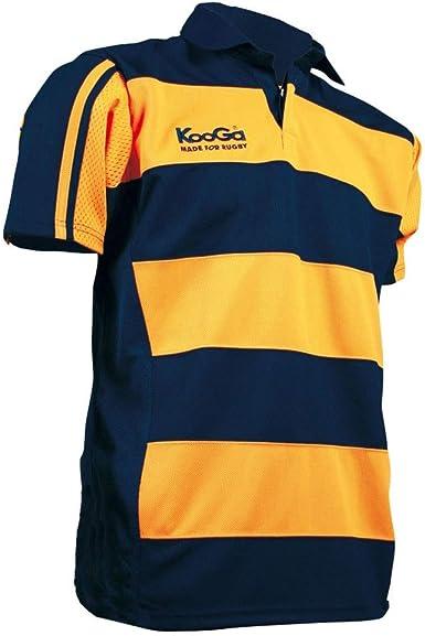 Kooga Teamwear Hooped Match Shirt [Yellow/Navy] - Medium: Amazon.es: Ropa y accesorios