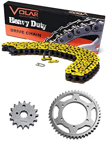 Yellow for 2008-2018 Yamaha WR250R Volar Chain and Sprocket Kit Heavy Duty