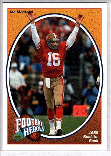 JOE MONTANA 1991 Upper Deck Football Heroes #7 (Joe Montana Football Trading Card)