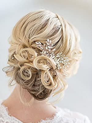 Missgace Bridal wedding Crystal Rhinestone Silver Hair Combs - Evening Women Hair Accessories
