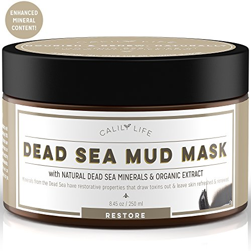 Calily Life Organic Dead Sea Mud Mask, 8. 5 Oz. - Deep Skin Cleanser – Face & Body Treatment – Cleanses Pores - Revitalizes Skin with a Youthful Glow - (National Mud)