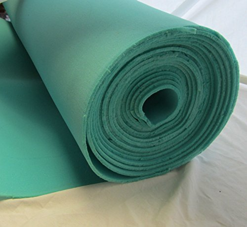 pen Cell Foam Poly Foam Upholstery Craft Packing Foam For Auto Door Panels,Upholstery, Crafts Supplies, Cushioning For Packing Green 1Pcs (Open Cell Foam)