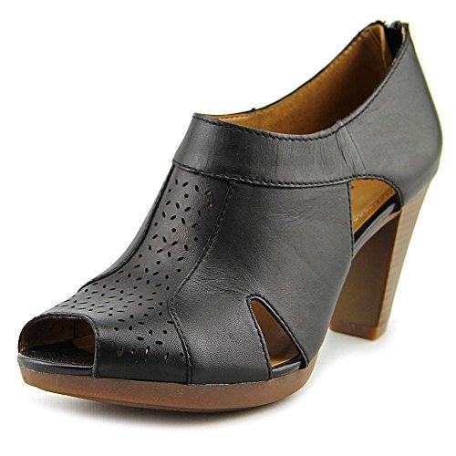 Clarks Dames Jovelyn Hollis Beige Lederen Neusschoenen Sandalen Maat 9 M