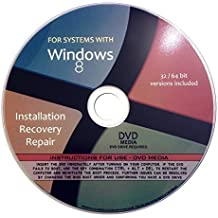 Windows 8 Pro Enterprise 32/64-bit Reinstallation Re install Recovery Restore Fix Boot Disk Disc CD - For All Make/Model PCs including HP, Lenovo, Dell, Toshiba, Sony, Asus