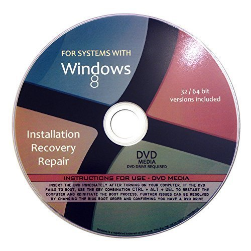 Restore Disk Ibm (Windows 8 Pro Enterprise 32/64-bit Reinstallation Re install Recovery Restore Fix Boot Disk Disc CD - For All Make/Model PCs including HP, Lenovo, Dell, Toshiba, Sony, Asus)
