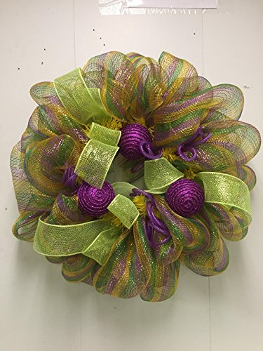 Mardi Gras Door Wreath