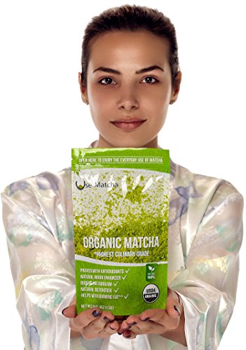 Matcha Green Tea Powder Organic - USDA – 4 oz - 50%-50% Mix of Ceremonial and Culinary Japanese Matcha