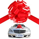 Large red car bow Big ribbon for car Huge bow for car Automobile Bow,Big bows for cars& Giant gift bow (22'')