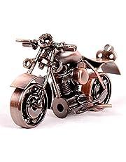 "Metal sculpture - Retro Classic Handmade Iron Motorcycle unique metal art decor - home décor (5.5""L,3""H, Copper Cruiser)"