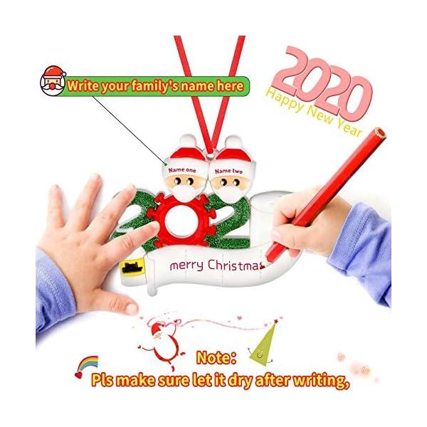 Sopravvissuto Famiglia Ornamento 2020 Quarantena Personalizzato Ornamenti di Natale Decorazioni per L'Albero di Natale Ornamenti Famiglia di Albero di Natale Ornamento Home Decor Regali di Natale 3 spesavip