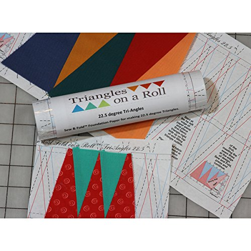 Triangles On A Roll Sew & Fold 60 Degree Tri-Angles Paper-Grid, 50' by Triangles On A Roll
