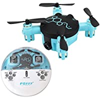 2.4GHz Six Gyro Beetle Foldable Drone Remote Controlled Rechargeable Mini Quadcopter Pocket Aircraft with Camera(Black-FQ04)