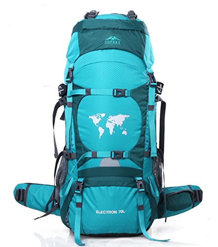 Topsky Unisex Outdoor Sports Mountaineering Travel Waterproof Camping Hiking Backpack 70l (Emerald)