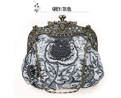 Beaded Picture2 Clutch Hand As Bag Sequined Embroidered Diamond NEW Evening Bag Bag Vintage Bride Bag 5O86q