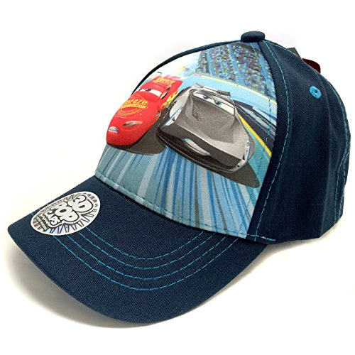 Disney Little Kids Character 3D Pop Cap, Lightning Mcqueen and Jackson Storm (Cars), One-Size (Lightning Mcqueen Cap)