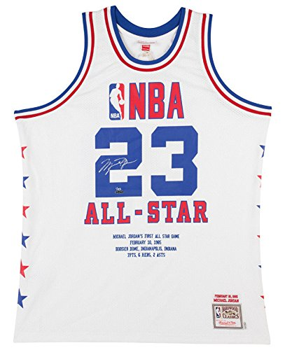 info for 6befd 39998 Amazon.com: MICHAEL JORDAN Signed Embroidered 1985 NBA All ...