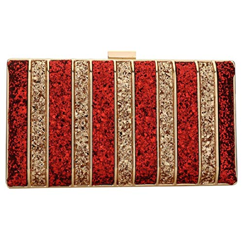 Handbag Purse Prom Clutch Bridal Bags Bag Red Gold With Evening Sequin Wedding Womens Bag Party w1IqS0