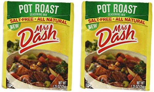 Mrs Dash Seasoning Mix - Pot Roast - All Natural - Salt-Free - Net Wt. 1.25 OZ (35 g) - Pack of 2 Packets