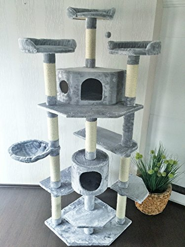 "Lemio - Árbol para gato ""Trebly"" rascador para gatos (gris)"