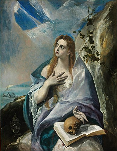 Greco Painting - Berkin Arts El Greco Giclee Canvas Print Paintings Poster Reproduction Large Size(The Penitent Mary Magdalene)