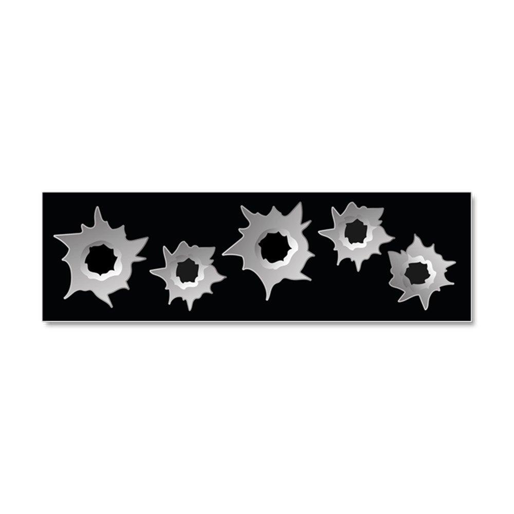 Amazon com cafepress bullet holes car magnet 10 x 3 magnetic bumper sticker automotive