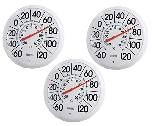 3 PACK - Taylor Precision Products Springfield Indoor/Outdoor Thermometer (8-inch)