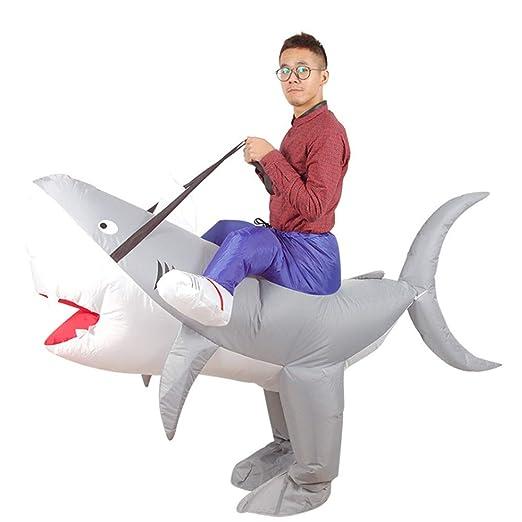 YGBH Funcionamiento de la Ropa Inflable, Trajes de Tiburones ...