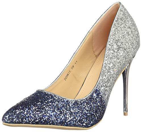 a18c4a61d4e1 Mila Lady BONNIE09 Women Glitter Pointed Toe Pumps High Heel Stilettos  Dress Shoes