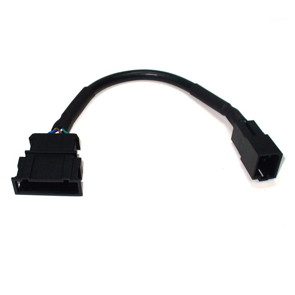 CD Wechsler-Adapter fü r Audi, VW, Seat und Skoda mit Mini-ISO Wechsler-Anschluss an 12-Pin Kabel (Flach) maxxcount.de