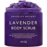 Brooklyn Botany Lavender Oil Body Scrub and Face Scrub – Moisturizing and Exfoliating Body Scrub -Fights Acne, Wrinkles, Dark Circles, Fine Lines and Signs of Aging - For Soft and Young Skin – 10 oz (Tamaño: 10 Ounce)