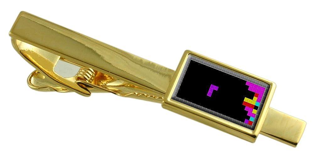 Select Gifts Bloque de Tetris Juego Clip de Corbata de Tono Oro ...