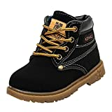 Toddler Baby Boys Girls Autumn Winter Martin Boots Shoes for 1-6 Years Old,Child Kids Solid Lace-Up...