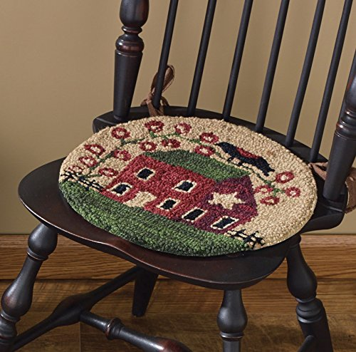 Park Designs Red House Hooked Chair Pad