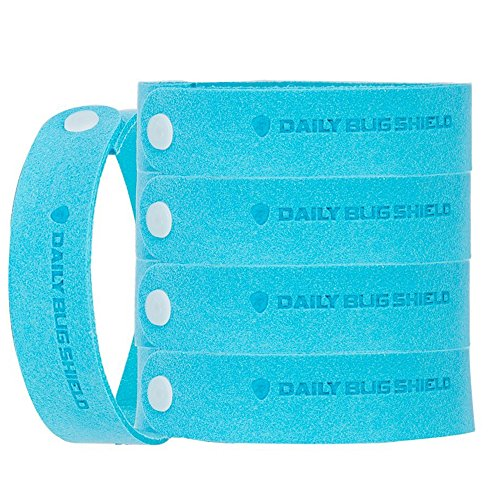 sun smiler Natural Mosquito Repellent Bracelets Wristband Wrist Band for Kids Adult Family Bug Insect Protection up to 300 Hours No deet 5 pac