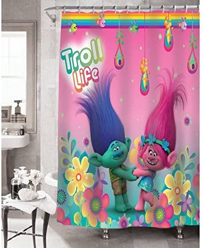 Kids Warehouse DreamWorks Trolls Peace The Move Shower Curtain