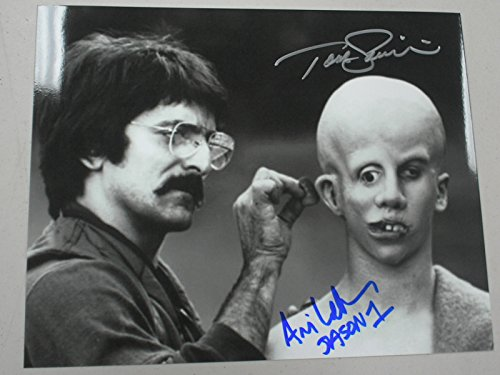 Tom Lehman Memorabilia - TOM SAVINI and ARI LEHMAN Dual Signed Friday the 13th 8x10 Photo Jason Voorhees