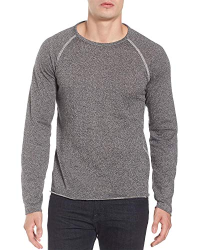 Billy Reid Men's Raglan Long Sleeve Indian Crew Neck T-Shirt, Grey Melange, Medium ()
