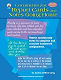 img - for Comments For Report Cards and Notes Going Home by Audry Clifford Lang (2002-06-19) book / textbook / text book