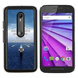 Te Amo Luna Texto Sunset Beach Ocean- Metal de aluminio y de plástico duro Caja del teléfono - Negro - Motorola Moto G (3rd gen) / G3
