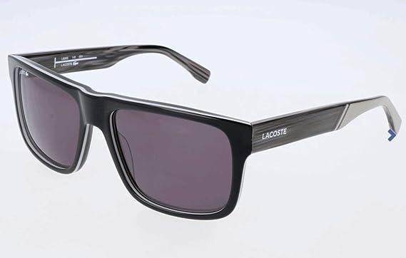 370ceb169 Amazon.com: Lacoste Men's L826S Rectangular Sunglasses, Black, 57 mm ...