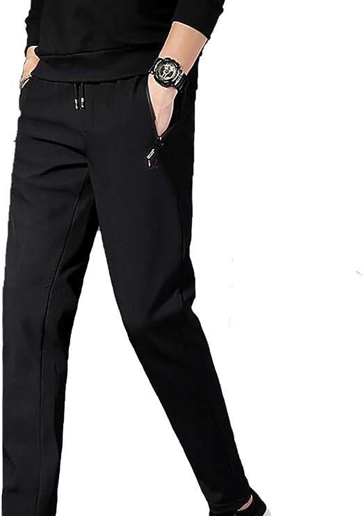 Fulision メンズシックストレッチプラスベルベットパンツカジュアルパンツフィートパンツロングパンツ暖かい紳士服