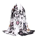 Ikevan Hot Selling Newest Women Lady Warm Shawl Chiffon Multi-purpose Scarf Fashion Butterfly Pattern Colorful Large Scarves Warm Autumn Winter 180x70cm (Black)