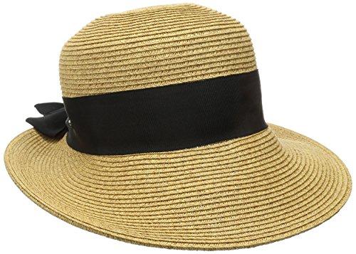 - Scala Women's Paper Braid Hat with Dimensional Brim, Tea, One Size