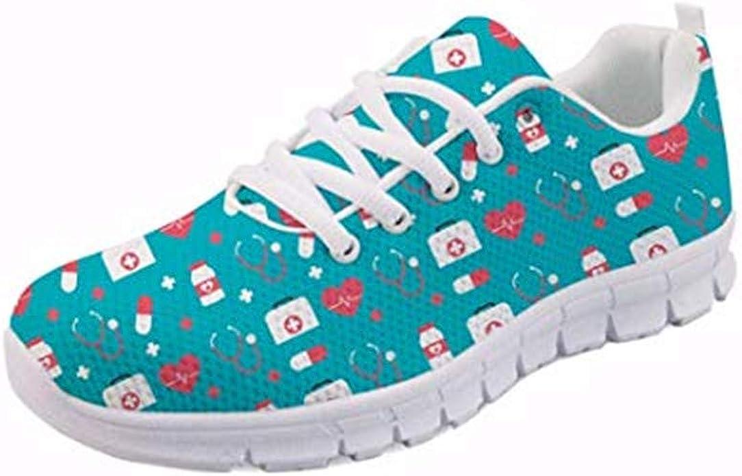 Coloranimal Lightweight Women S Lace Up Running Trainers Air Mesh Classic Flats Schuhe Handtaschen