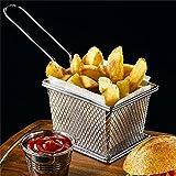 Mangocore Chips Mini Fry Baskets Stainless Steel Fryer Basket Strainer Serving Food Presentation Cooking Tool French Fries Basket
