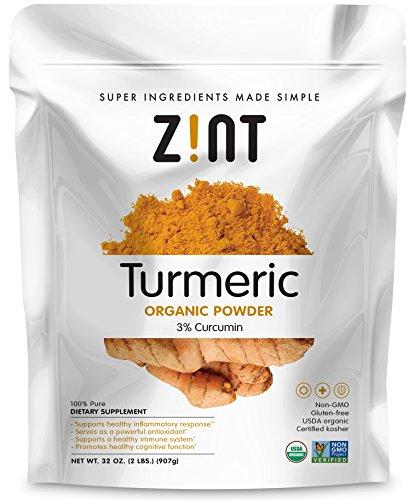 Zint Organic Turmeric Powder: Raw Turmeric Curcumin Supplement Spice, 32 Ounce